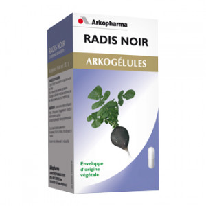 Arkopharma Arkogélules Radis Noir 150 Gélules Confort digestif Enveloppe d'origine végétale
