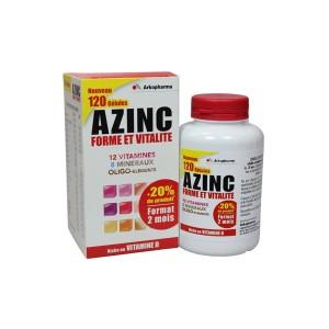 Azinc - Forme et Vitalité - Riche en Vitamine D - 120 Gélules