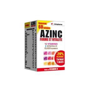 Azinc - Forme et Vitalité - Riche en Vitamine D - 60 Gélules