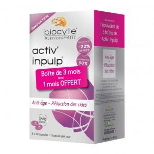 Biocyte Pack Activ' Inpulp - 90 Capsules Anti-âge - Réduction des rides  Sans gluten 3401525002758