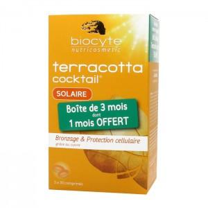 Biocyte Terracotta Cocktail Solaire 90 Comprimés  Bronzage & protection cellulaire grâce au cuivre