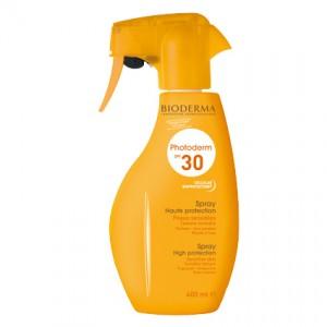 bioderma photoderm spray spf30 400 ml spray haute protection pour peaux sensibles avec texture invisible et résiste à l'eau