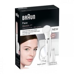 Braun Face Beauty Edition - Épilateur Visage et Brosse Nettoyante