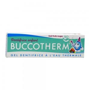 Buccotherm Dentifrice Enfant - BIO - Goût Fruits Rouges - 50 ml A partir de 3 ans Gel dentifrice à l'eau thermale Sans fluor 3401560047646