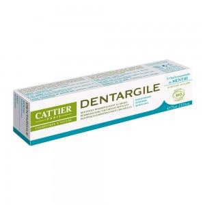Cattier Dentargile Menthe - Dentifrice Rafraîchissant - 75 ml Incompatible avec un traitement homéopathique Convient aux femmes enceintes 3283950040020