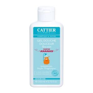 Gel Douche Douceur Parfum Ananas Kids Bio en 200ml de Cattier pour l'Hygiène du corps des Enfants avec douceur chez Hyperpara