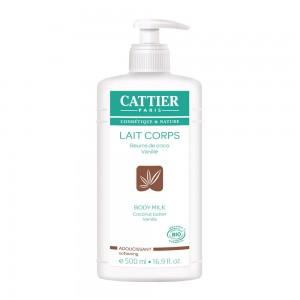 Cattier Lait Corps BIO - 500 ml Beurre de coco et vanille Adoucissant 3283950911160