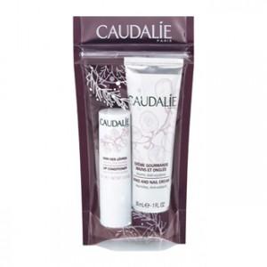 Caudalie Duo Hiver - Crème Mains & Ongles 30 ml et Soin des Lèvres 4.5g