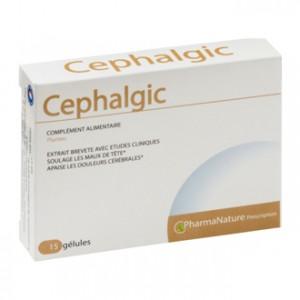 PharmaNature Cephalgic 15 Gélules Soulage les maux de tête Apaise les douleurs cérébrales