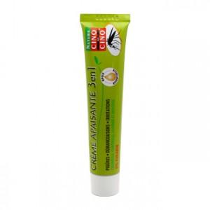 Natura Cinq sur Cinq Crème Apaisante 3 en 1 40g, apaise les piqûres, les démangeaisons, les irritations, à partir de 3 ans et sans paraben