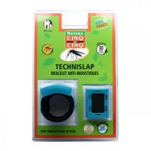 Cinq sur Cinq Natura TechniSlap Bracelet Anti-Moustiques Bleu