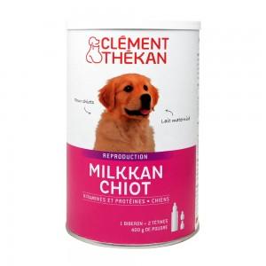 Clément Thékan Reproduction - Milkkan Chiot 400g Pour chiots Lait maternisé Vitamines et protéines Fourni avec 1 biberon + 2 tétines 3595890226717