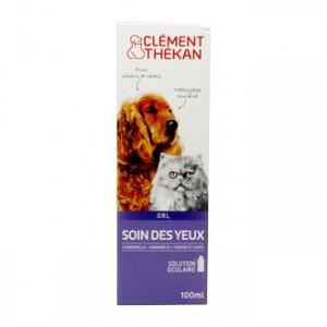 Clément thékan Soin des Yeux 100 ml Pour chien et chat Chamomilla, hamamélis Solution oculaire