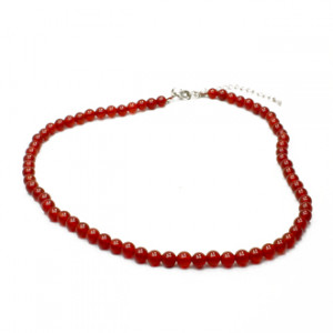 Collier Cornaline Perles Rondes