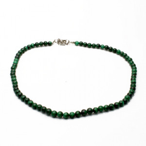 Collier Malachite Perles Rondes