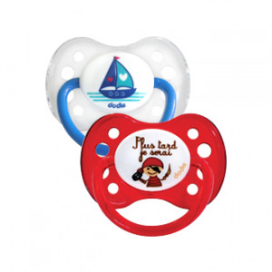 "Dodie 2 Sucettes Anatomiques Silicone +6 mois ""Bateau & Pirate !"""