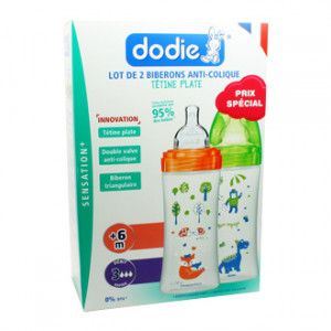 Dodie Sensation + Lot de 2 Biberons Anti-Colique 330 ml
