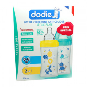 Dodie Sensation + Lot de 2 Biberons Anti-Colique 270 ml