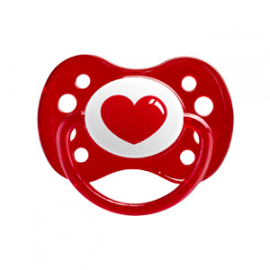 "Dodie Sucette Anatomique Silicone +6 mois ""Coeur"" Forme anatomique Silicone 0% BPA A18"