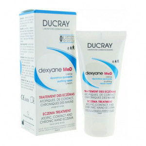 Ducray Dexyane MeD - Crème Réparatrice Apaisante - 30 ml Traitement des eczémas Atopiques, de contact, chroniques des mains Visage et corps Toute la famille 0% cortisone, 0% paraben et 0% parfum 3282770073348