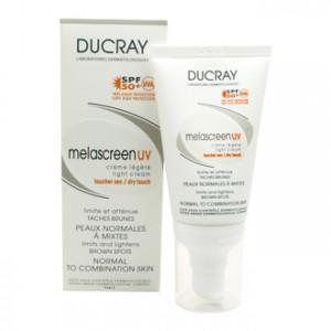 Ducray Melascreen UV Crème Légère SPF50+ 40 ml limite et atténue les tâches brunes, pour les peaux normales à mixtes, sans parfum et sans paraben