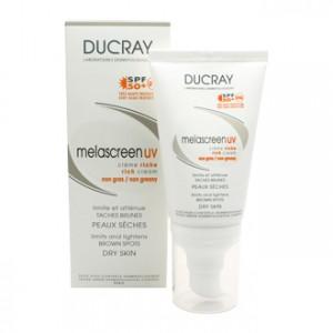 Ducray Melascreen UV Crème Riche SPF50+ 40 ml limite et atténue les tâches brunes, pour les peaux sèches, sans parfum et sans paraben