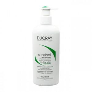 Ducray Sensinol - Lait Apaisant Physioprotecteur Corps 400 ml Calme et hydrate immédiatement Peau sujettes aux démangeaisons
