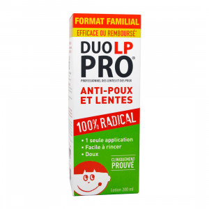 Duo LP-PRO Lotion - 200 ml FORMAT FAMILIAL Avec 3 peignes inclus 100% radical 1 seule application Facile à rincer Doux 3595890228728