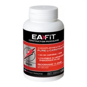 EA Fit Pure L-Carnitine 2g 90 Gélules La plus dosée du marché ! 2g de carnitine / jour Contribue au  métabolisme énergétique Programme 15 jours