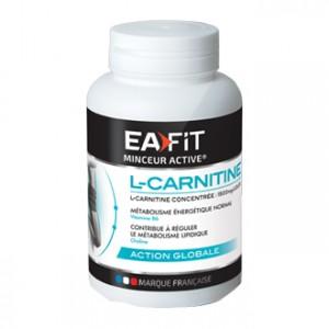 EA Fit L-Carnitine 90 Gélules Concentrée à 1500mg/jour Contribue à réguler le métabolisme lipidique