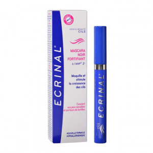 ecrinal mascara noir fortifiantà l'ANP 2 + 7 ml maquille et stimule la croissance des cils hypoallergenique convient aux yeux sensibles et porteurs de lentilles maquillage yeux hyperpara