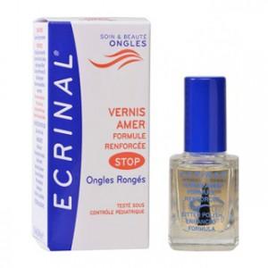 ecrinal vernis amer formule renforcée ongles rongés 10 ml soin & beauté ongles