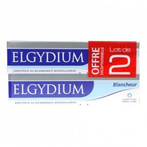 ELGYDIUM - Dentifrice Blancheur Lot de 2 x 75 ml - Hygiène buccale et dentaire - Hyperpara