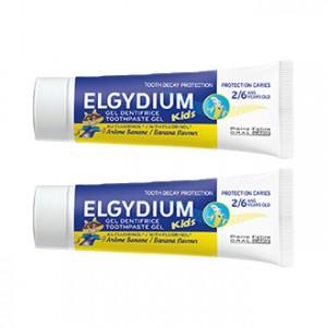 Elgydium Dentifrice Protection Caries Kids 50 ml Arôme Banane Lot de 2 hygiène dentaire de 2 à 6 ans