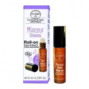 Elixir & Co Roll-On - Minceur - 10 ml BIO Fleurs de bach & huiles essentielles Pour éviter de succomber aux tentations gourmandes