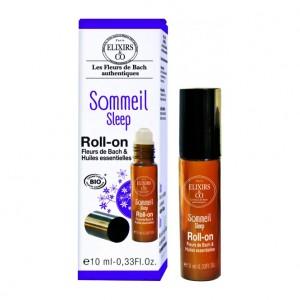 Elixir & Co Roll-On - Sommeil - 10 ml BIO Fleurs de bach & huiles essentielles Pour favoriser l'endormissement et un sommeil paisible