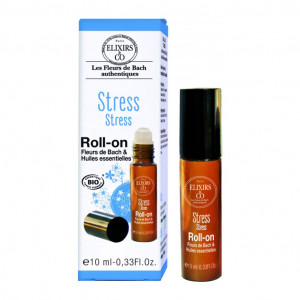 Elixir & Co Roll-On - Stress - 10 ml BIO Fleurs de bach & huiles essentielles Pour apaiser les tensions, calmer les agitations