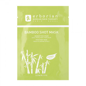 Erborian Bamboo Shot Mask - 15gr Masque tissu visage Effet repulpant fraîcheur 8809255781731