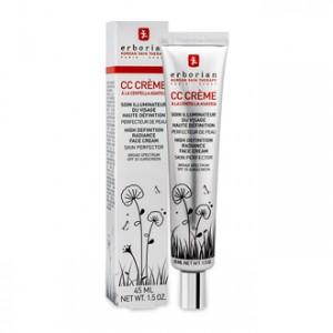 Erborian CC Crème à la Centella Asiatica SPF25 55 ml Soin illuminateur du visage haute définition Perfecteur de peau