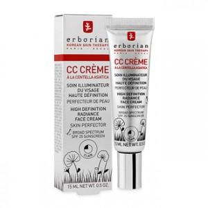 Erborian CC Crème à la Centella Asiatica Clair SPF25 15 ml Soin illuminateur du visage haute définition Perfecteur de peau