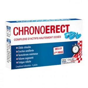 Eric Favre Chronoerect 4 Gélules Libido stimulée Testostérone maintenue Fatigue réduite