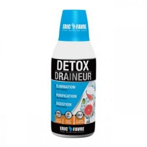 Eric Favre Detox Draineur Saveur Agrumes - 500 ml Élimination grâce à l'hibiscus Purification grâce au bouleau Digestion grâce au bouleau