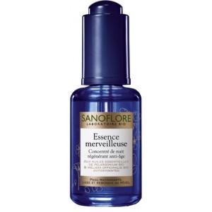 Sanoflore Essence Merveilleuse - 30 ml Concentré de nuit régénérant anti-âge Peau rayonnante,  Lisse et rebondie au réveil 3337873400994