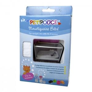 Estipharm Petipouce - Moustiquaire Bébé - Non-Imprégnée - Pour Petits Lits et Berceaux