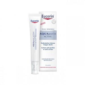 Eucerin AquaPorin Active - Contour des yeux Revitalisant 15 ml Hydratation intense et longue durée Action anti-poches et anti-cernes Sans parfum