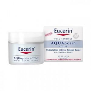 Eucerin AquaPorin Active - Soin Hydratant Protecteur SPF25 50 ml Hydratation intense longue durée Tous types de peaux Sans parfum