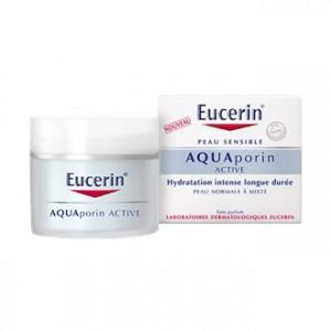 Eucerin AquaPorin Active Texture Légère 50 ml Peau Normale à Mixte Hydratation intense longue durée Sans parfum