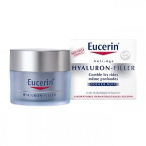 Eucerin Hyaluron-Filler - Soin de Nuit 50 ml Comble les rides même profondes Tous les types de peaux