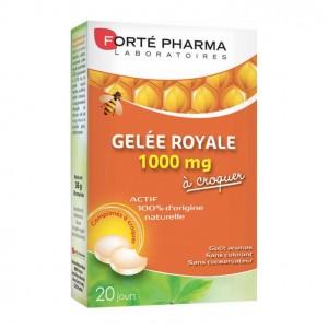 Forté Pharma Gelée Royale 1000mg - 20 Comprimés à Croquer 20 jours Actif 100% d'origine naturelle Gout ananas 3700221311806