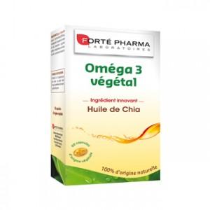 Forté Pharma Omega 3 Végétal 60 Capsules Riche en oméga 3 Ingrédient innovant huile de chia 100% d'origine naturelle